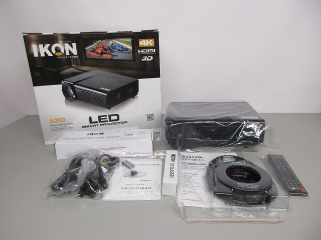 IKON IK200 4K 3D HDMI LED SMART PROJECTOR
