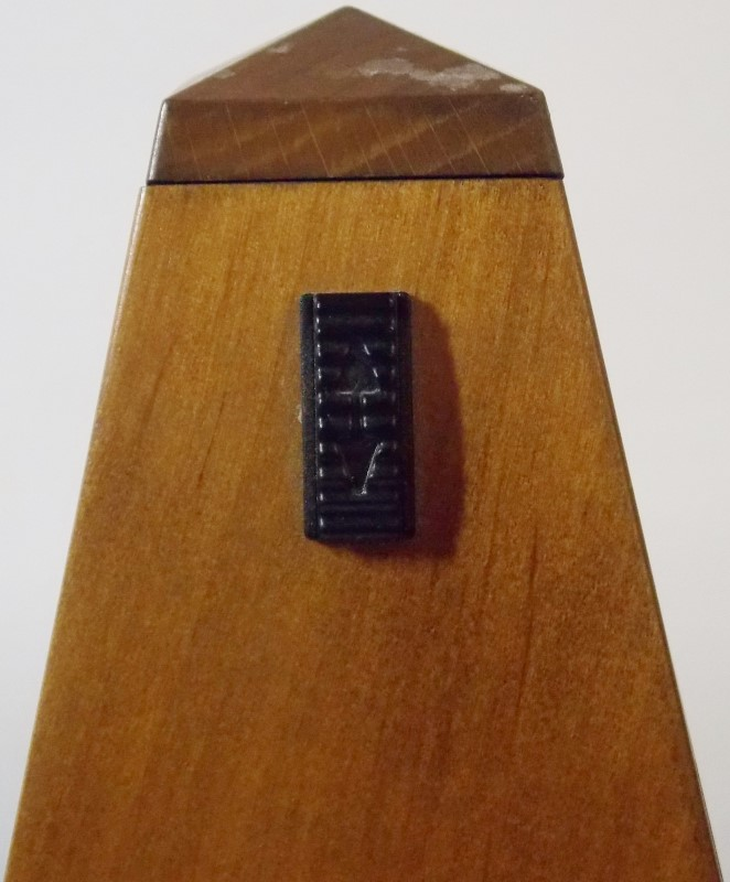 VINTAGE WITTNER 803M MAELZEL PYRAMID METRONOME WITHOUT BELL