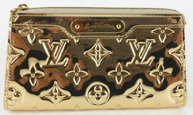 LOUIS VUITTON LIMITED ED. GOLD MONOGRAM MIROIR COSMETIC POUCH