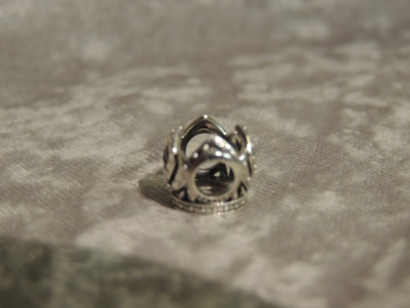 PANDORA CHARM STERLING DISNEY ELSA CROWN BLUE CZ 791588CZB