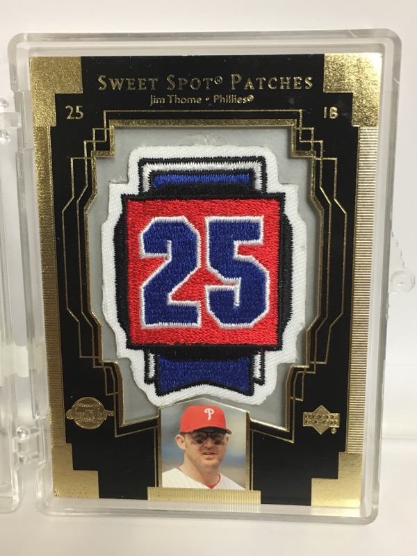 2003 Upper Deck Sweet Spot Patches Jim Thome Philadelphia Phillies Card