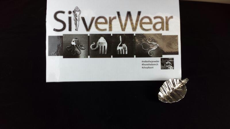 Designer Michael Kelch Leaf Spoon Pendant 925 Silver