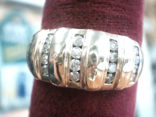 Lady's Diamond Fashion Ring 20 Diamonds .36 Carat T.W. 10K Yellow Gold 2.8dwt