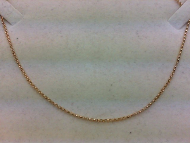 """18"""" Gold Link Chain 14K Yellow Gold 2.8g"""