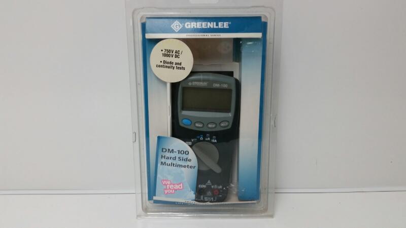 GREENLEE MULTIMETER DM-100 750Vac/1Kvdc