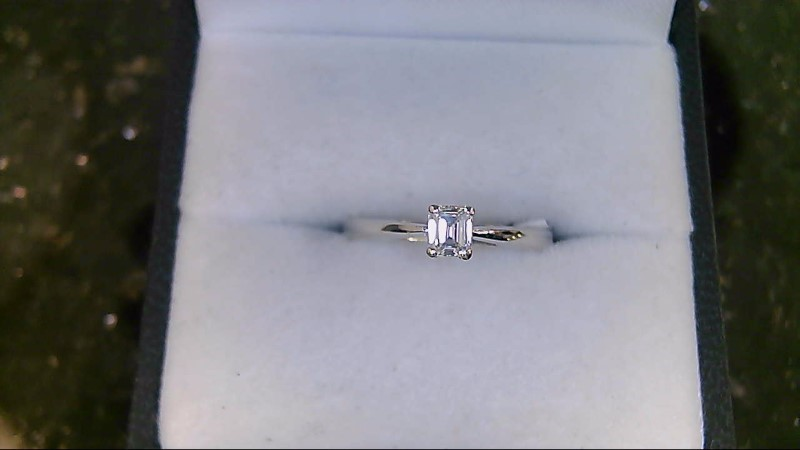 Lady's Diamond Solitaire Ring .25 CT. 14K White Gold 2.1g