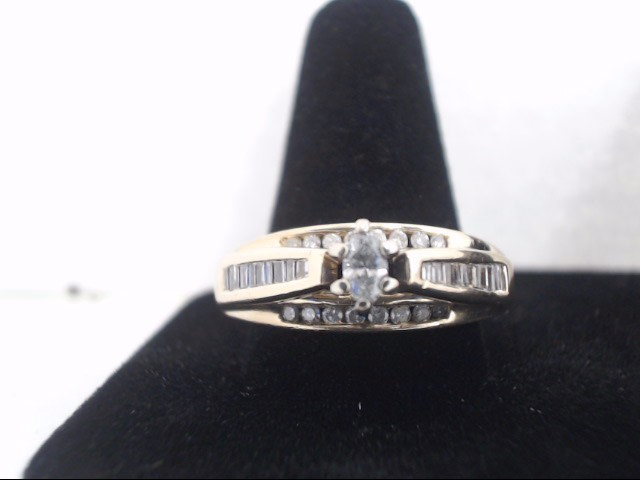 Lady's Gold-Diamond Anniversary Ring 38 Diamonds 1.10 Carat T.W.
