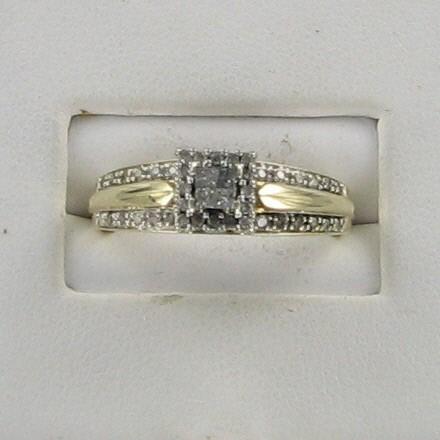Lady's Diamond Fashion Ring 34 Diamonds .42 Carat T.W. 10K Yellow Gold 2.4dwt