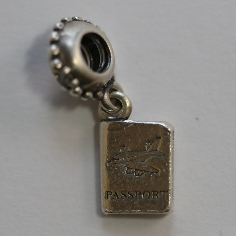 Pandora Sterling Silver Passport Charm