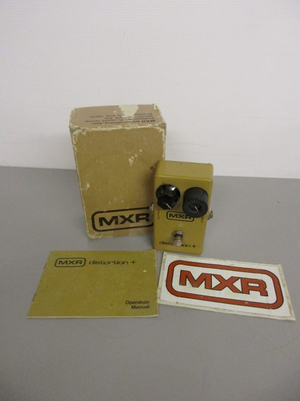 VINTAGE MXR DISTORTION PLUS, NON-LED BLOCK LOGO