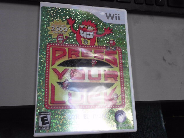 NINTENDO Nintendo Wii Game PRESS YOUR LUCK 2010 EDITION