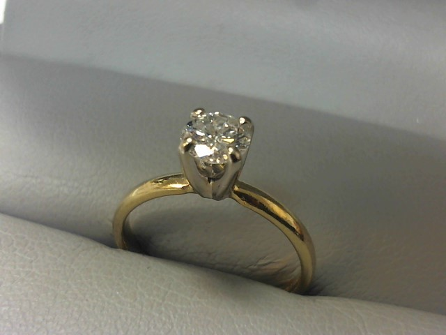 Lady's Diamond Solitaire Ring .33 CT. 14K Yellow Gold 1.8g