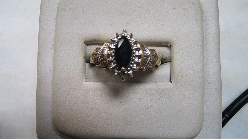 Lady's Blue Stone Ring Size 7.5 (Free S/H)