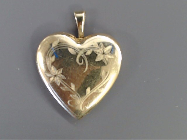 HEART PHOTO LOCKET OPENS PENDANT CHARM SOLID REAL 10K GOLD LOVE