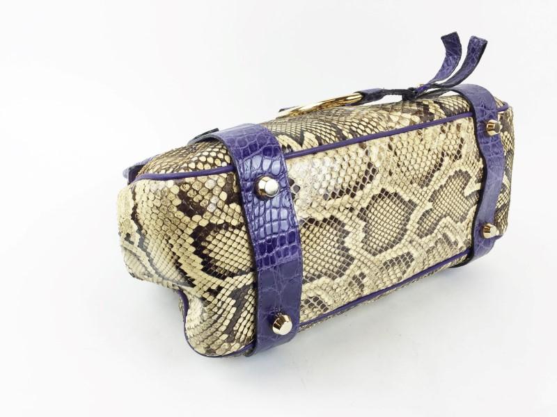 DOLCE & GABBANA PURPLE PYTHON/ALLIGATOR EXOTIC SKIN BAG