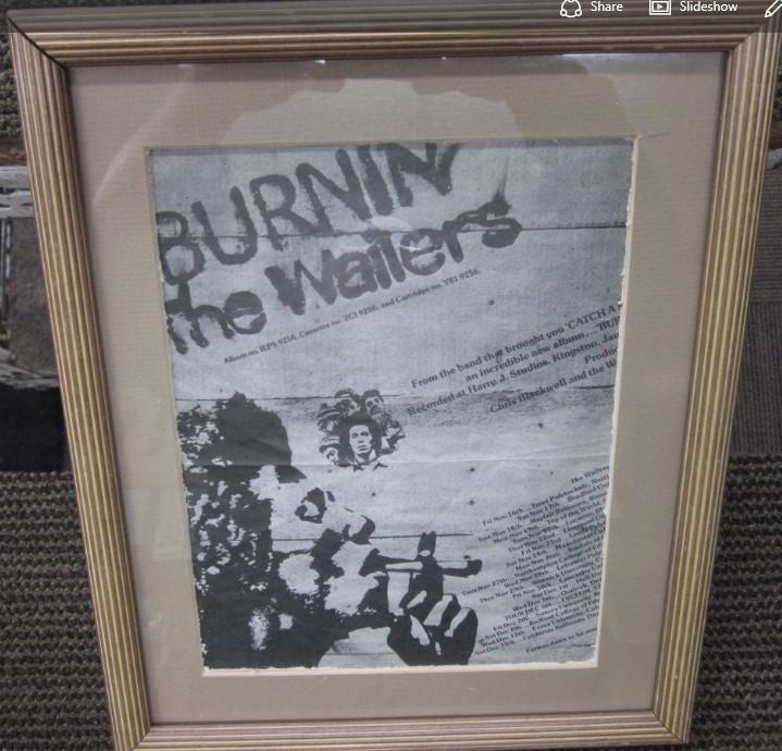 "THE WAILERS ""BURNIN'"" UK TOUR 1973 AD"
