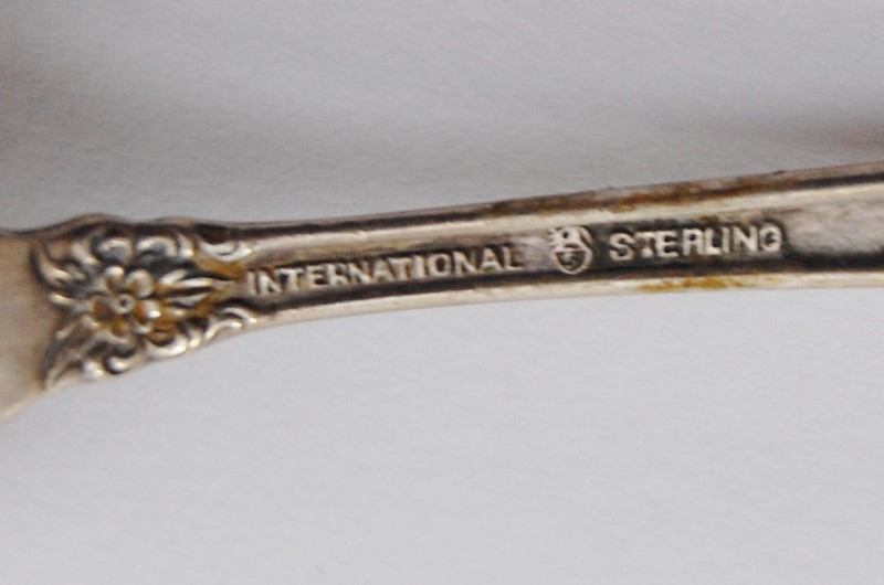 "Prelude Demitasse Spoon by International Sterling Silver 4"" NO MONO"