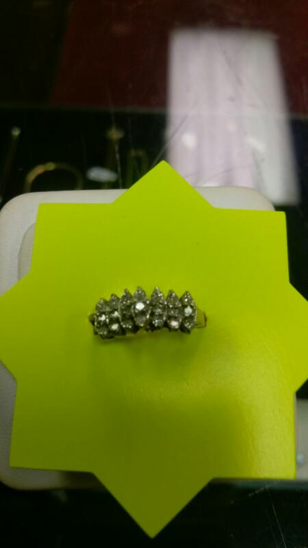Lady's Diamond 10K Diamond ring  58 Diamonds .84 Carat T.W. size 7