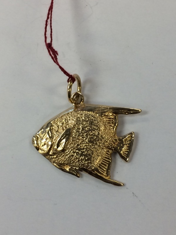 Gold Fish Pendant 14K Yellow Gold 1.9g