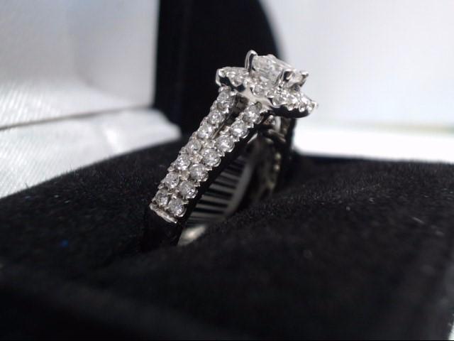 Lady's Diamond Wedding Band 41 Diamonds 1.14 Carat T.W. 14K White Gold 4.7g