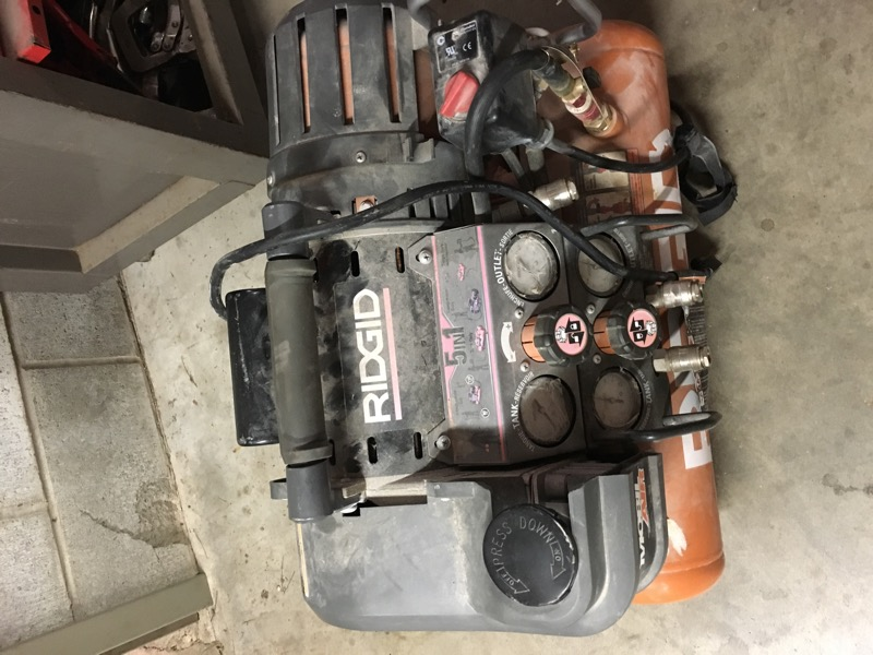 RIDGID AIR COMPRESSOR 5IN1 OF5010TS
