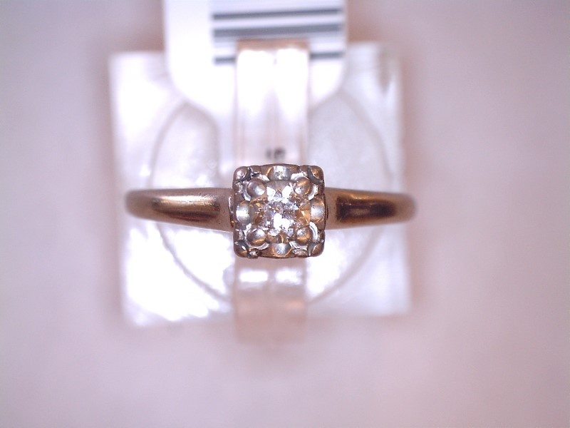 Lady's Diamond Solitaire Ring .18 CT. 14K White Gold 1.51dwt Size:6.3
