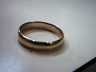 Gent's Gold Wedding Band 14K Yellow Gold 4.9g Size:12