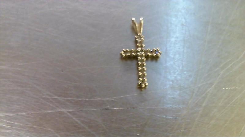 Gold-Multi-Diamond Pendant 16 Diamonds .16 Carat T.W. 10K Yellow Gold 0.62g