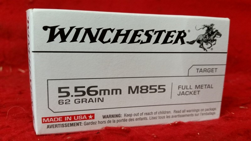 Winchester 5.56mm 62gr Ammo FMJ