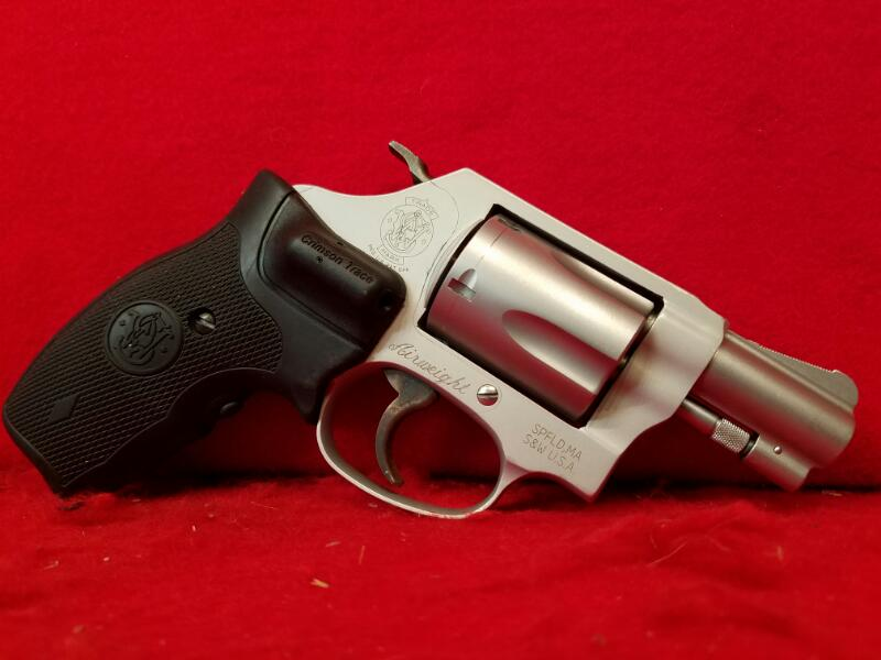 Smith & Wesson 637-2 38 Special Revolver - Crimson Trace Grips