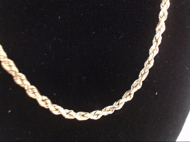 Gold Rope Chain 14K Yellow Gold 9.4g