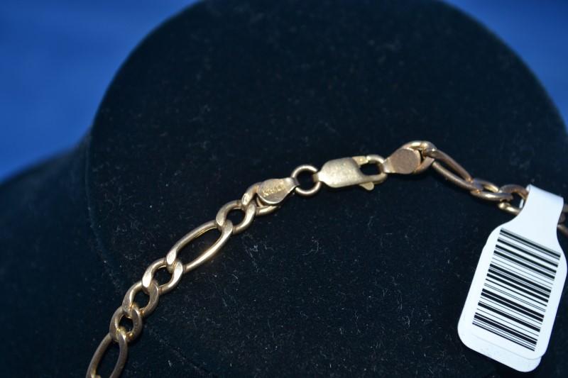 Gold Figaro Chain 14K Yellow Gold 9.9g
