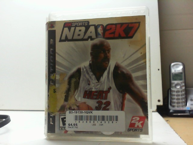 SONY Sony PlayStation 3 Game NBA 2K7