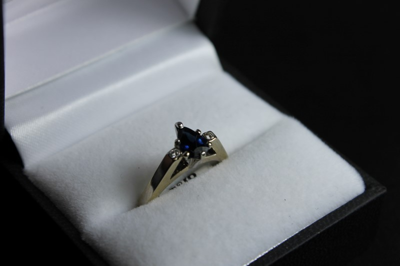 Lady's Sapphire and Diamond 14K Yellow Gold Ring