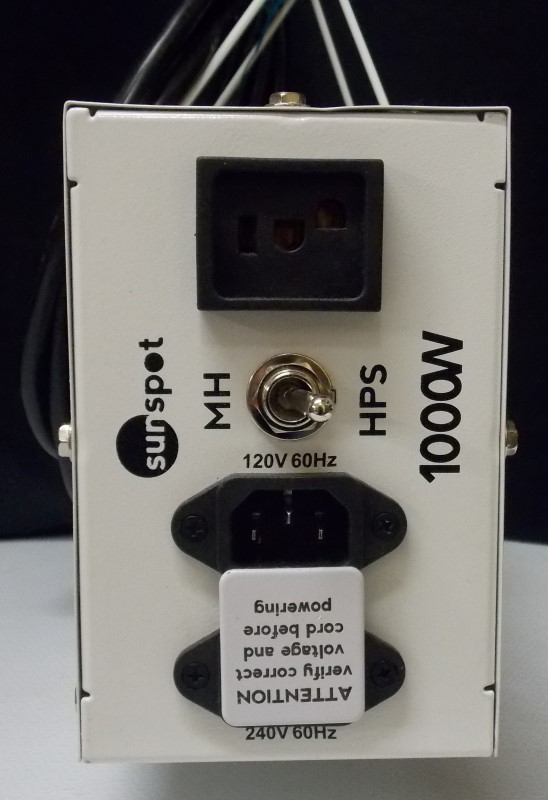 SUNSPOT MH/HPS BALLAST, 1000W BULB, SMHB1101 & HOOD