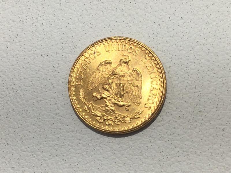 1945 Mexico Dos (Two) Pesos .900 Gold Coin
