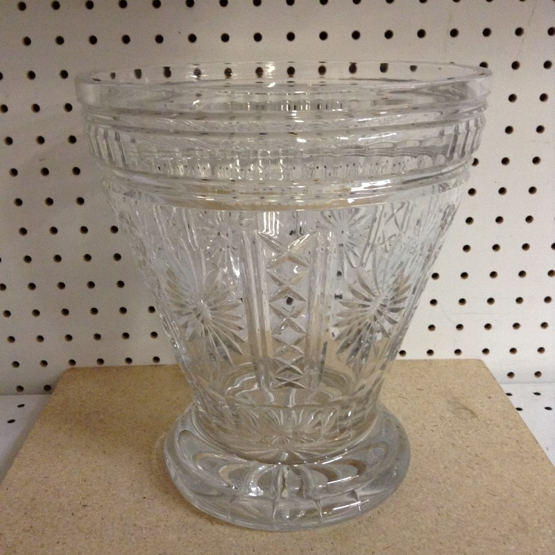 POLAND Glass/Pottery CRYSTAL VASE