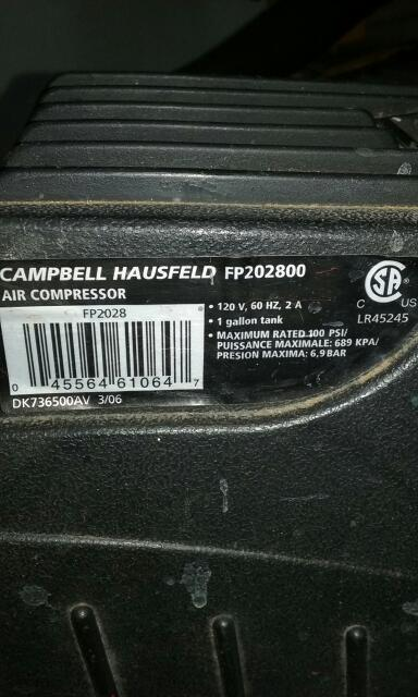 CAMPBELL HAUSFELD Air Compressor FP202800