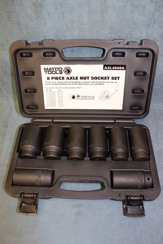 """Matco Tools 1/2"""" Drive 8-Piece Axle Nut Socket Set - Item# AXL4548A"""