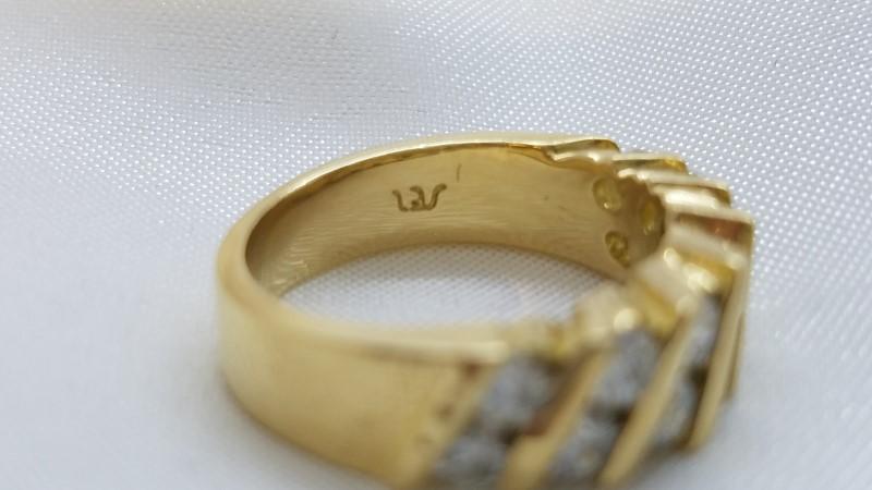 Ladies Diamond Channel Ring 14 Diamonds 1.40 CTW 18K Yellow Gold