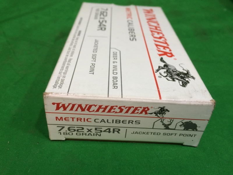 Winchester Jacketed Soft Point 7.62 x 54R 180-Grain Centerfire Rifle Ammunition