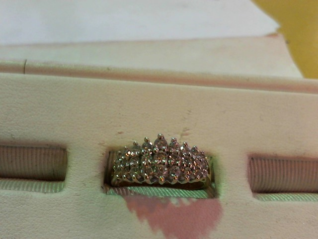 Lady's Diamond Fashion Ring 27 Diamonds 1.53 Carat T.W. 14K Yellow Gold 4g