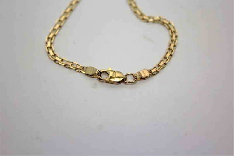 Blue Topaz Diamond & Stone Necklace 7 Diamonds .09 Carat T.W. 14K Yellow Gold