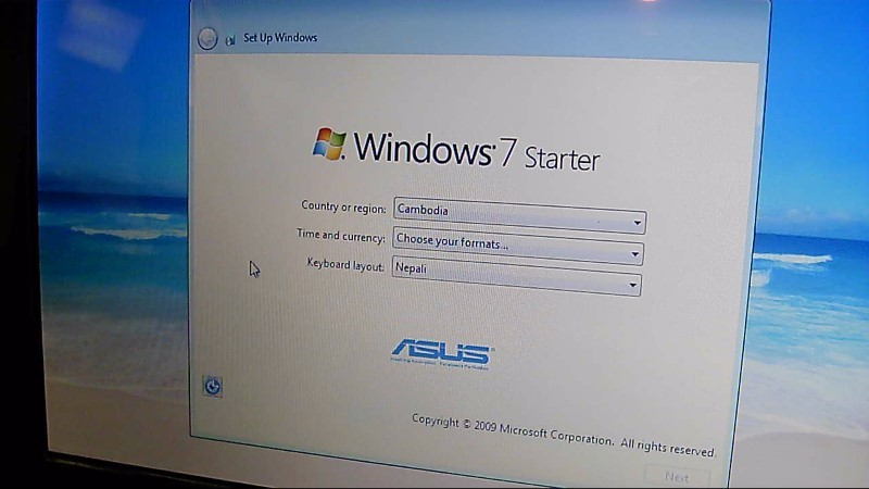 Asus EEE PC 1008HA Win 7 160GB HDD 1GB Ram Seashell Series Laptop