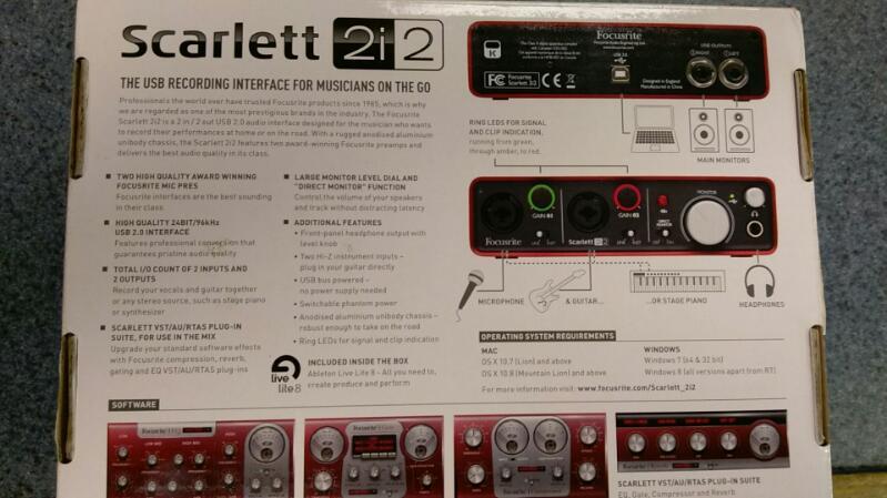 Focusrite Scarlett 2i2 (1st Gen) USB Recording Audio Interface