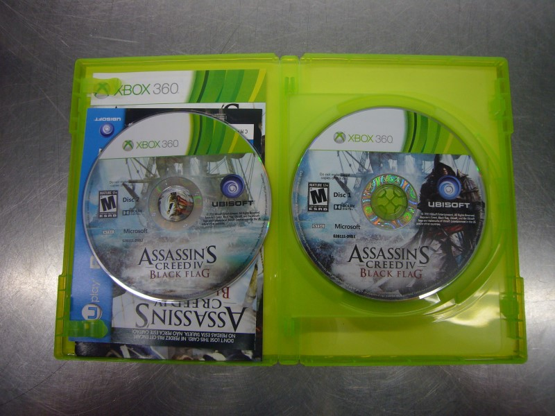 MICROSOFT XBOX 360 Game ASSASSINS CREED IV BLACK FLAG