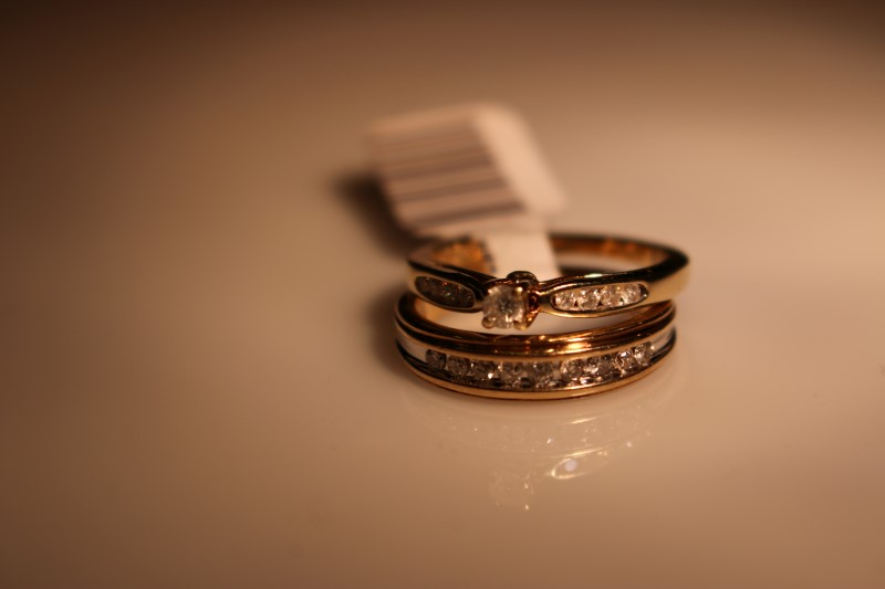 Lady's Diamond Wedding Set 18 Diamonds .25 Carat T.W. 14K Yellow Gold 4.67g
