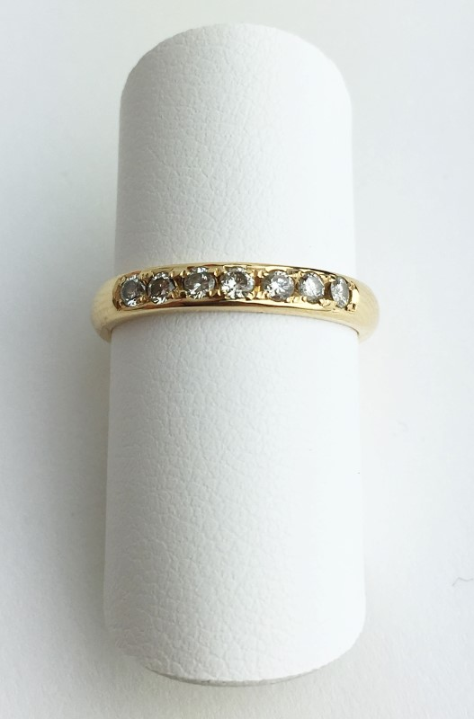 Lady's Diamond Fashion Ring 7 Diamonds .21 Carat T.W. 737 Yellow Gold 3.06g