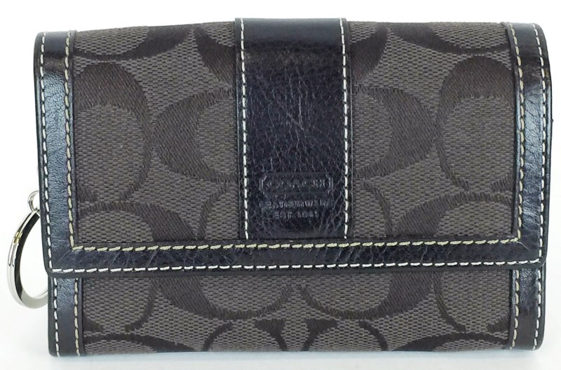 COACH DARK BROWN SMALL WALLET