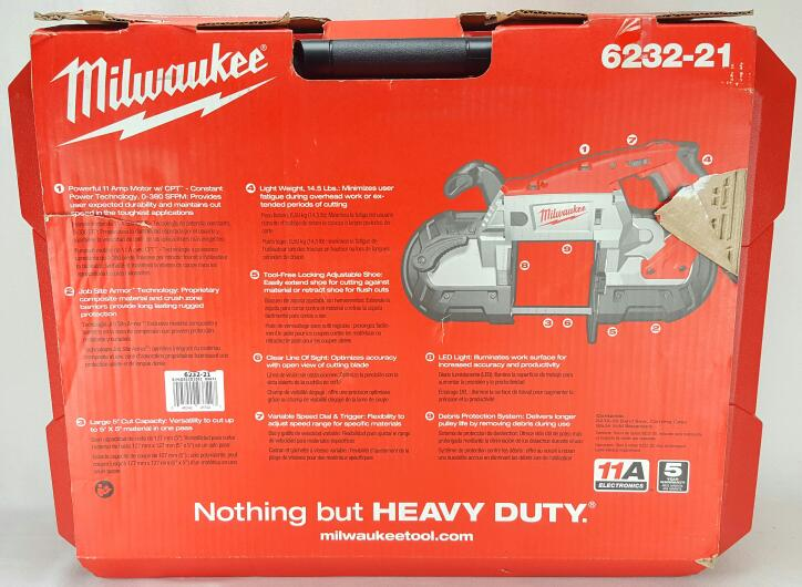 Brand New Milwaukee 6232-21 Deep Cut Band Saw W/Case (PB1004896)